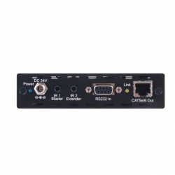 HDMI over CAT5e/6 with LAN/IR/RS-232/Bidirectional PoE - Back View