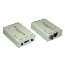 HDMI over CAT6 Transmitter with IR/RS-232 + HDMI over CAT6 Receiver with IR/RS-232 - Front View