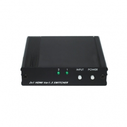 2x1 HDMI Switcher - Front View