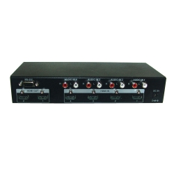 4 by 2 HDMI v1.3 Switcher with Audio - Back View