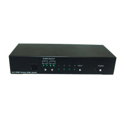 4 by 2 HDMI v1.3 Switcher with Audio - Front View