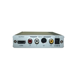 CV/SV to HDMI 1.3 SD to Full HD Scaler Box - Back View