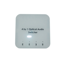 4 by 1 Optical Audio Switcher with IR Remote - Back View